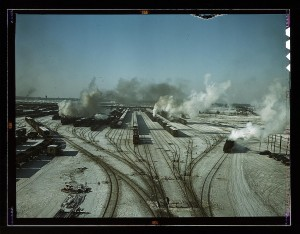 General view of one of the classification yards of the Chicago and Northwestern Railroad, Chicago, Ill., Library of Congress