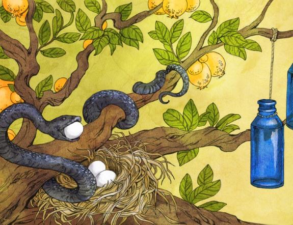 The Glass Bottle Trick by Nalo Hopkinson (illustration by Ashley Stewart)