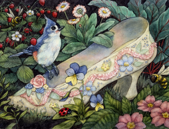 The Dryad's Shoe by T. Kingfisher (illustration by Tara Larsen Chang)